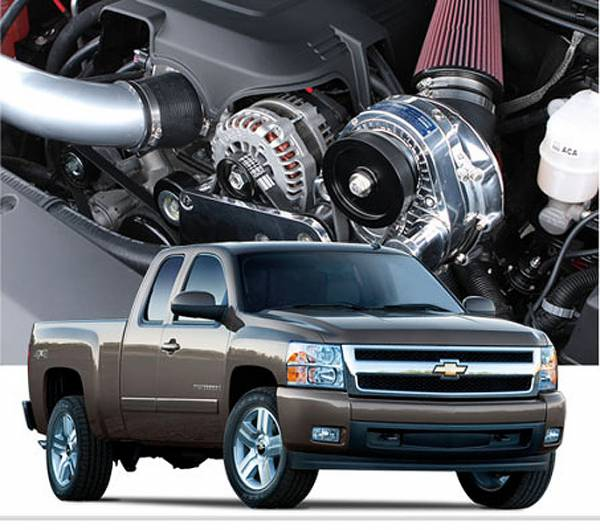 Procharger - 2013 to 2007 GM TRUCK 1500 4.8 Stage II Intercooled System with P-1SC-1 (dedicated drive)