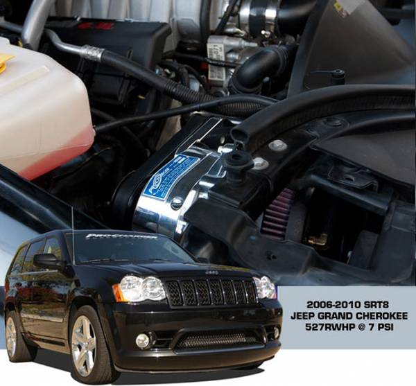 Procharger - 2010 to 2006 JEEP GRAND CHEROKEE STR8 6.1 Stage II Intercooled Tuner Kit with P-1SC-1 (dedicated 8-rib)