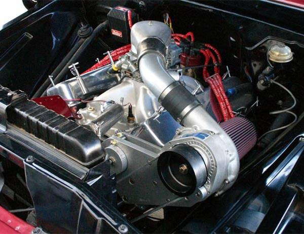 Procharger - Small Block Chevy Serpintine High Output Intercooled Kit with F-1C, F-1R (12 rib)