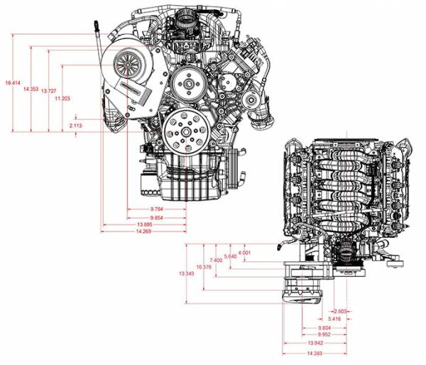 Procharger - Godzilla Engine Swap (7.3) Serpentine High Output Tuner Kit with P-1SC-1