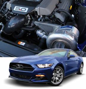 MUSTANG - Full System - Procharger - 2015 to 2017 MUSTANG GT 5.0 4V High Output Intercooled System with Factory Airbox and P-1SC-1
