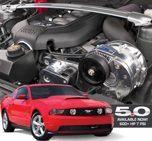 MUSTANG - Full System - Procharger - 2011 to 2014 MUSTANG GT 5.0 4V HO Intercooled System with Factory Airbox and P-1SC-1 (shared drive)