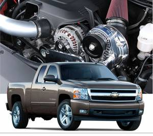 Truck/SUV - Tuner Kit - Procharger - 2013 to 2007 GM TRUCK 1500 4.8, 5.3 Stage II Intercooled Tuner Kit with P-1SC-1 (dedicated drive)
