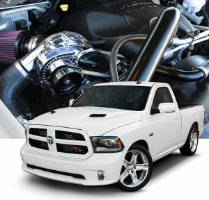 RAM - Tuner Kit - Procharger - 2018 to 2011 DODGE  RAM 1500 5.7 Stage II Intercooled Tuner Kit with P-1SC-1 (dedicated 8-rib drive)