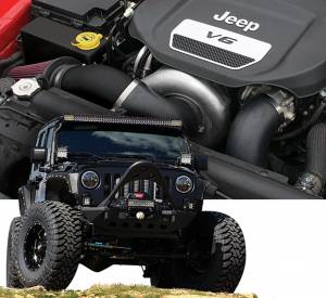 WRANGLER - Full System - Procharger - 2018 to 2012 JEEP WRANGLER  3.6 High Output Intercooled System with P-1SC-1
